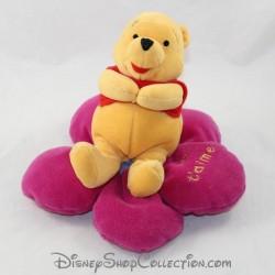 Peluche ours NICOTOY Disney Winnie l'ourson fleur Je t'aime 20 cm