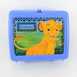 Boîte à déjeuner Le Roi lion Disney lunch box The lion King vintage bleu 20 cm