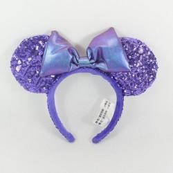 Serre-tête Minnie DISNEY PARKS oreilles de Minnie Mouse sequins violet pailletés
