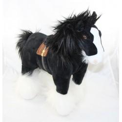 Peluche Angus cheval DISNEY STORE Rebelle Merida cheval noir 40 cm