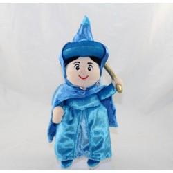 Peluche Pimprenelle fée DISNEY STORE La Belle au Bois Dormant bleu 24 cm