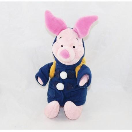 Peluche Porcinet DISNEYLAND PARIS sac à dos Winnie l'ourson veste bleu 23 cm