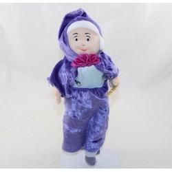 Peluche marraine fée DISNEY STORE robe bleue 30 cm