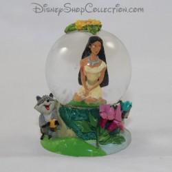Mini snow globe DISNEY Pocahontas petite boule à neige RARE 7 cm