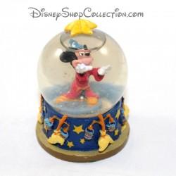 Mini globo de nieve Mickey DISNEY Fantasía pequeña bola de nieve RARE 7 cm