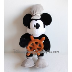 Plush Mickey DISNEYLAND PARIS black and white Mickey Commander 48 cm