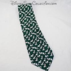 Cravate 101 Dalmatiens DISNEY chiots vert blanc homme