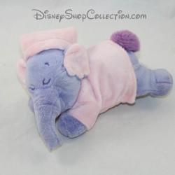 Peluche éléphant couché Lumpy NICOTOY Disney pyjama rose efelant endormi 20 cm