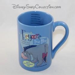 Mug embossed Bourriquet DISNEY STORE Eeyore True Blue ceramic cup 13 cm