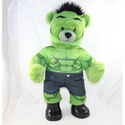 Peluche ours Hulk BUILD A BEAR Marvel BAB ours vert avec tenue compléte 44 cm