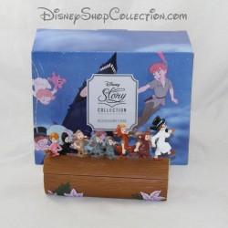 Scatola di gioielli bambini persi DISNEY Peter Pan statuina in resina Collezione RARE