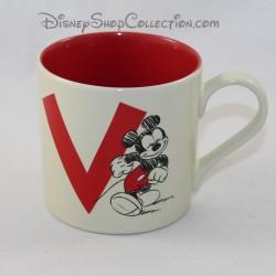 Mug Mickey DISNEYLAND PARIS carta V Taza de cerámica disney 9 cm