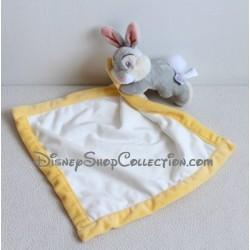 Doudou lapin Pan Pan DISNEY STORE mouchoir jaune blanc Panpan