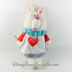 Peluche le lapin blanc DISNEY STORE Alice au pays des merveilles trompette 40 cm