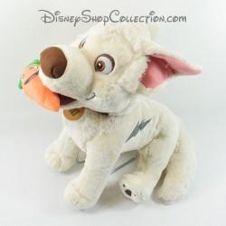 Peluche chien GIPSY Disney Volt Star malgré lui carotte dans la bouche 40 cm