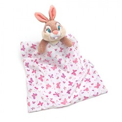 Bunny comforter Miss Bunny DISNEY STORE baby pink blanket striped butterfly cover 36 cm