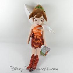 Peluche Fairies DISNEY STORE Fawn fée Noah poupée chiffon marron 54 cm