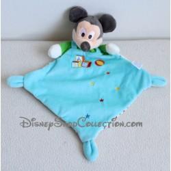 Doudou plat Mickey DISNEY NICOTOY bleu cubes Abc ballon étoiles losange