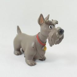 Figurine chien Jock DISNEY La Belle et le clochard gris pvc rare 8 cm