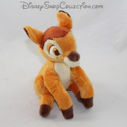 Peluche Bambi DISNEY STORE biche marron assise 18 cm