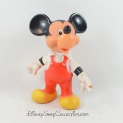 Pouet Pouet Mickey Mouse DELACOSTE DISNEY salopette rouge tête articulée pvc vintage 1972