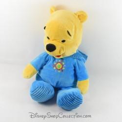 Peluche Winnie l'ourson DISNEY NICOTOY pyjama capuche bleu soleil 49 cm