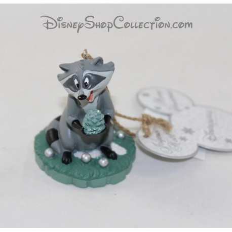 Suspending decoration Meeko raccoon DISNEYLAND PARIS Pocahontas Disney ornament 7 cm