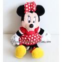 Peluche Minnie DISNEYLAND PARIS guisante rojo vestido blanco Disney 28 cm