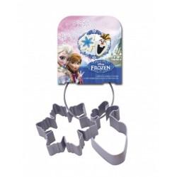 Emporte-pièce La Reine des neiges DISNEY Olaf et flocon métal set 2 pièces
