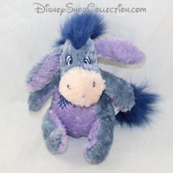 Peluche Bourriquet âne NICOTOY Disney bleu rapiécé cicatrice assis 15 cm