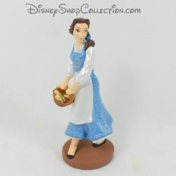 Figurine princesse Belle DISNEY STORE La Belle et la bête robe bleue pvc 9 cm