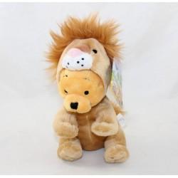 Peluche Winnie l'ourson DISNEY NICOTOY déguisé en lion 17 cm
