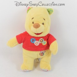 Peluche Winnie l'ourson DISNEY BABY t-shirt rouge Pooh abeille 24 cm