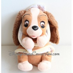 Peluche Lady DISNEY couverture La Belle et le Clochard chien PTS SRL 28 cm