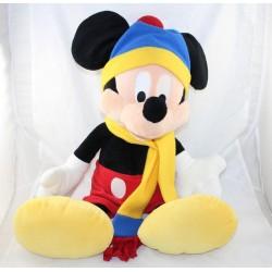 Peluche XXL Mickey DISNEY NICOTOY bonnet et écharpe 65 cm