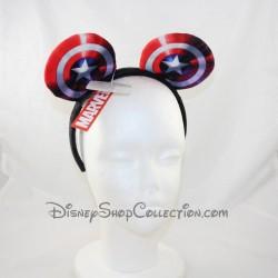 Serre-tête à oreilles Captain America DISNEYLAND PARIS Marvel Avengers headband Disney 20 cm