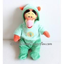 Peluche Tigrou DISNEY NICOTOY pyjama vert capuche 35 cm