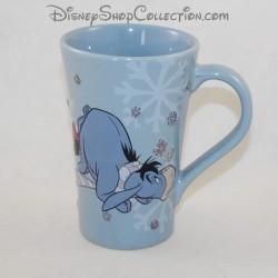 Mug Bourriquet DISNEY STORE azul taza de copo de nieve de cerámica 13 cm