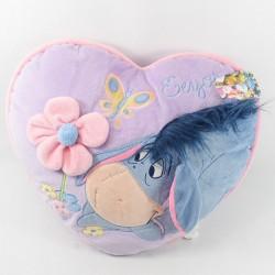 Coussin Bourriquet DISNEY STORE coeur violet Saint Valentin Eeyore 40 cm