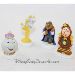 Lot de figurines à gateau DISNEY La Belle et la bête cake topper 5 cm