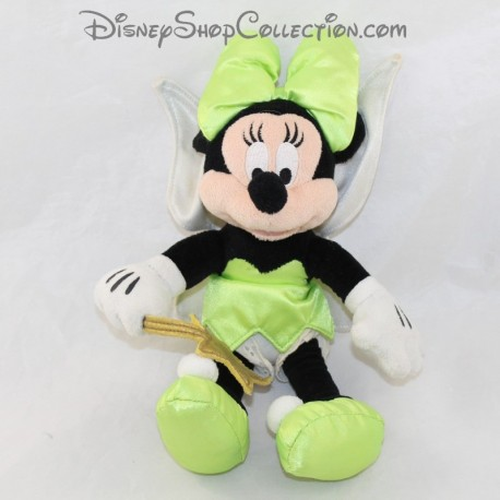 Plush Minnie DISNEY disguised as Fairy Bell green dress 30 cm