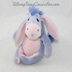 Peluche âne VÊTIR Disney Bourriquet bleu et rose clair assis 15 cm