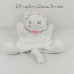 Doudou marionnette à main chat Marie DISNEY BABY blanc Les Aristochats