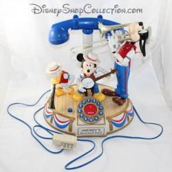 Véritable téléphone Mickey, Dingo et Donald DISNEY Mickey's Dixieland Band animé HS
