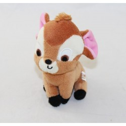 Mini peluche Bambi DISNEY Gipsy Cuties marron lien ficelle 11 cm