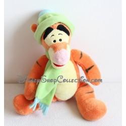 Peluche Tigrou DISNEY NICOTOY bonnet et écharpe vert 32 cm