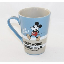 Mug Mickey DISNEY Hello Folks Mickey Mouse Haunted House bleu