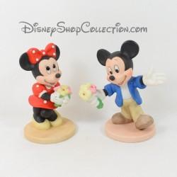 Ensemble de figurines Mickey et Minnie DISNEY biscuit de porcelaine statuette 10 cm