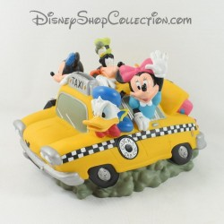 Piggy bank Mickey and his friends DISNEY taxi yellow New York 23 cm