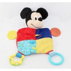 Doudou plat Mickey DISNEY STORE éveil Disney Baby anneau étoiles 26 cm